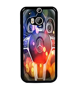 PrintDhaba Car Sterring D-2835 Back Case Cover for HTC ONE M8 EYE (Multi-Coloured)