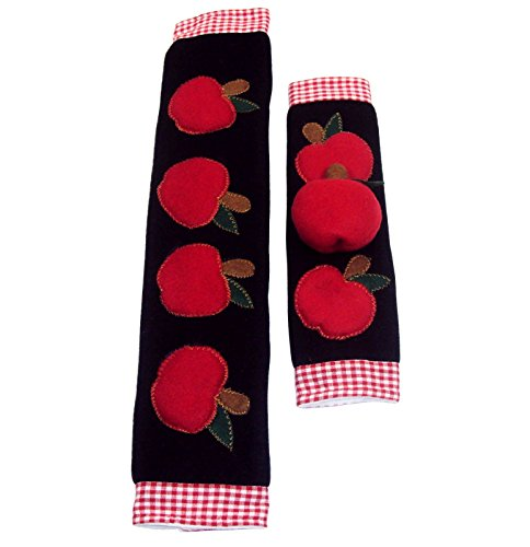 Kitchen Appliance Handle Covers with Apple Design, Stove Handle Covers, Refrigerator Handle Covers Wrap Around - Kitchen Gift, Kitchen Decor Set of 2 Pieces. (Stove And Fridge compare prices)