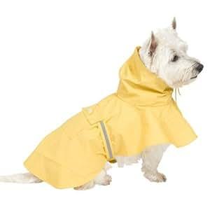 Pet Puddles Rain Medium Dog Poncho : Pet Raincoats : Pet Supplies