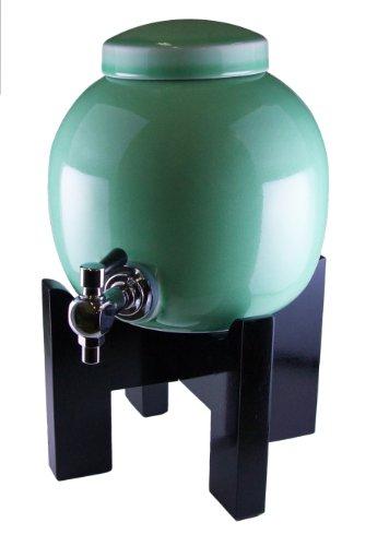焼酎サーバー 黒塗り台セット 青磁