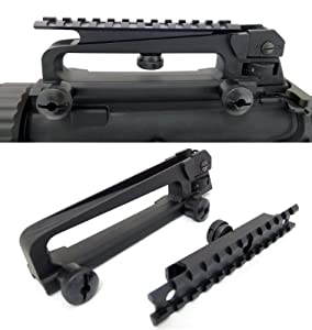 AR-15 Detachable Carry Handle with Rail Mount Package by Monstrum Tactical