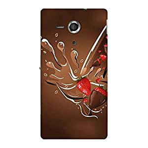 Straberry And Chocolates Back Case Cover for Sony Xperia SP