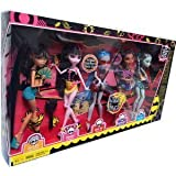 Monster High Gloom Beach Set Includes Cleo de Nile, Draculaura, Clawdeen Wolf, Frankie Stein and an Exclusive Ghoulia Yelps
