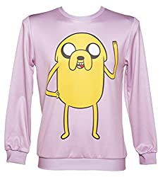 Unisex Lilac Adventure Time Jake The Dog Sweater from Mr Gugu Miss Go by Mr Gugu & Miss Go