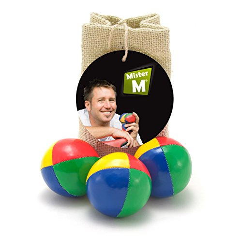 3-Quality-Juggling-Balls-FREE-online-Instructional-Video-Burlap-Carry-Bag-by-MisterM