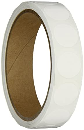 "Aviditi DL610E Circle Inventory Color Coded Label, 3/4"" Diameter, White (Roll of 500)"