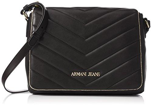 Armani Jeans9221596A718 - Borsa a tracolla Donna , Nero (Schwarz (NERO 00020)), 20x9x28 cm (B x H x T)