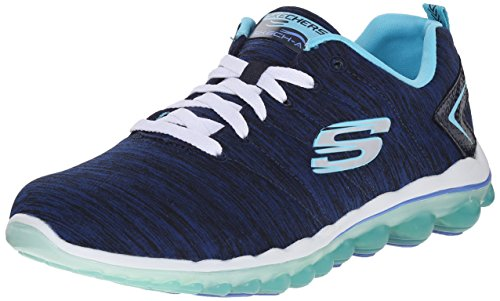 Skechers Sport Women's Skech Air Sweet Life Fashion Sneaker, Navy/Light Blue, 11 M US