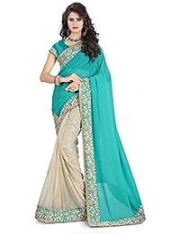 Sarees(Women's Clothing Sarees For Women Latest Designer Wear Sarees Collection In Latest Sarees With Designer... - B06X91DVJ7