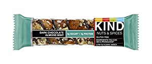 KIND Nuts & Spices naihu Bars - Dark Chocolate Almond Mint - 6 Count by KIND