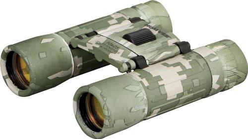HUMVEE HMV-B-10X25-DC Rubber Armor Compact Binocular with Anti-Reflective Emerald Green Lens, 10x25, Digital Camouflage