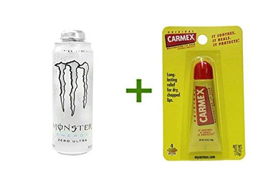 MONSTER ENERGY DRINK MEGA ZERO ULTRA 12/24oz, CARMEX MOISTURIZING LIP BALM Tubes 1ct (Monster Energy Mega compare prices)