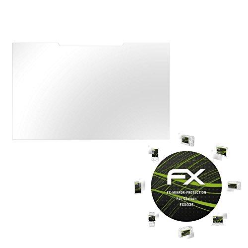 atFoliX-Displayschutz-Clarion-FX503E-Spiegelfolie-FX-Mirror-mit-spiegeleffekt