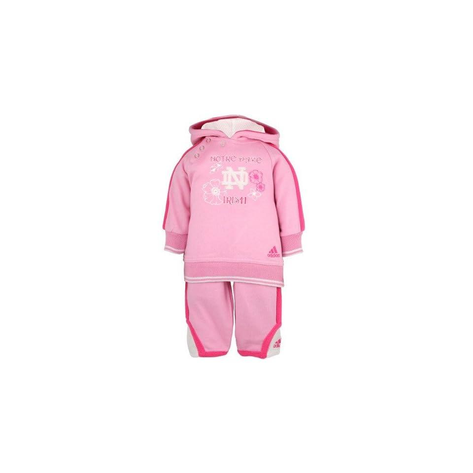 adidas Notre Dame Fighting Irish Pink Infant Fashion Sweatsuit
