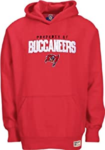 Tampa Bay Buccaneers Youth Red NFL Timeless Embroidered Hooded Sweatshirt By Reebok by Reebok