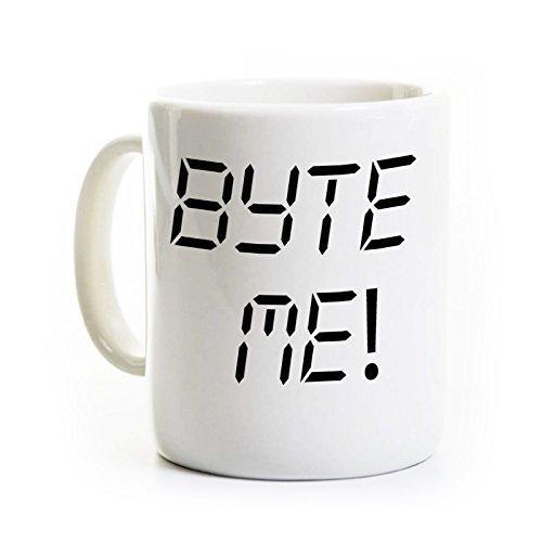 Byte Me Coffee Mug - Computer Programmer Coffee Mug - Geek/Nerd Gift - Computer Science - Can Be Customized