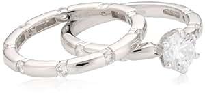 s.Oliver Damen-Stapelring 925 Silber rhodiniert Zirkonia weiß Gr. 54 (17.2) - 437882