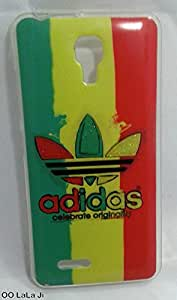 Soft Fancy Back Cover For Micromax Bolt Selfie Q424 - Adidas Logo Printed Case