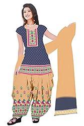 Dharmnandan Fashion Panghat Violet color Cotton Woman's Fancya Dress Material