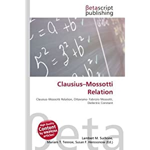 Clausius Mossotti Relation | RM.