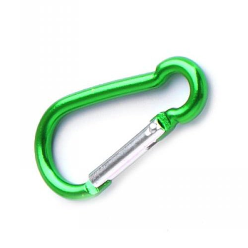 Aluminum Mountaineering Carabiner Camp Camping Snap Clip Hook Keychain Hiking Key Chain Green Color