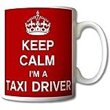Keep Calm I'm A Taxi Driver Mug Cup Gift Retro