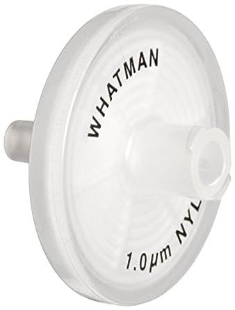 Whatman 6750-2510 Nylon Puradisc 25 Syringe Filter, 1.0 Micron (Pack of 50)