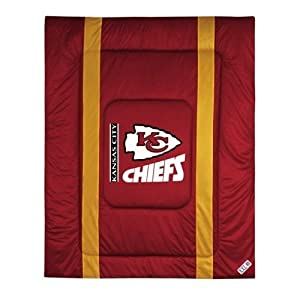 NFL Kansas City Chiefs Sideline Bed Comforter by Sports Coverage