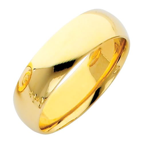 LASER-ENGRAVING-SERVICE-14k-Yellow-Gold-6mm-COMFORT-FIT-Plain-Wedding-Band