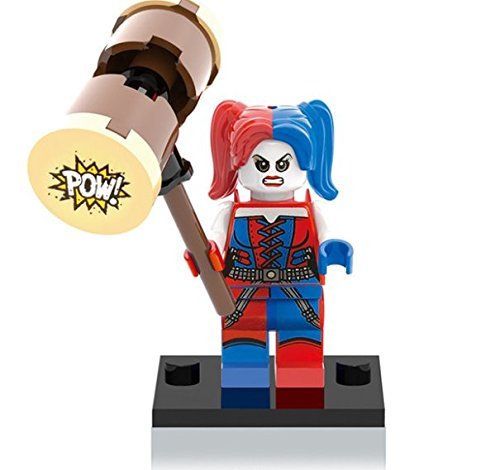 Harley Quinn Arkham Asylum Suicide Squad Puddin and Mr.J Minifigures Building Blocks DC Batman Super Heroes Superhero Sets Models Mini Figures Bricks (Batman Arkham City Harley Quinn Costume)