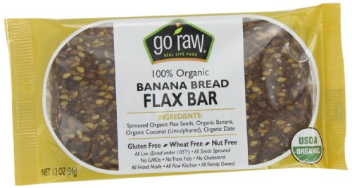 Freeland Go Raw Bars, Banana Bread, 1.2-Ounce Bar (Pack of 30)