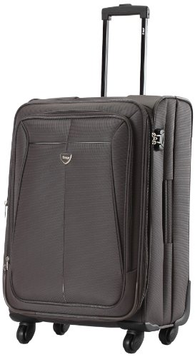 Vip VIP Aqualite II Strolly Exp 4 Wheel Fabric Brown Softsided Carry-On (STAQU55BRN) (Cyan)