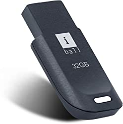 iBall 32GB Crest P9 - Small / Compact & Feather Light Design Pendrive Flash Drive