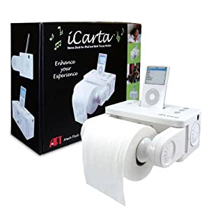iCarta iPod Stereo Dock and Bath Tissue Holder