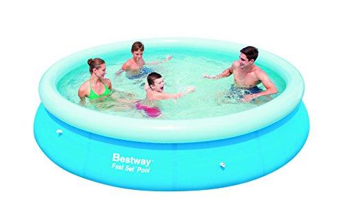 Bestway 57032 fast set piscina da giardino rotonda da 366 - Piscina bestway opinioni ...