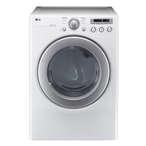 LG DLE2250W 7.1 Cu. Ft. White Stackable Electric Front Load Dryer