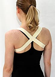 The 2 in 1 Posture Brace | A Posture Corrector Shoulder Brace - Posturific Brace (XXLarge, Beige)
