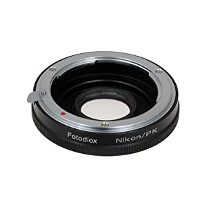 Fotodiox Lens Mount Adapter, Nikon Lens to Pentax K Mount Camera
