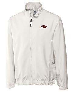 Arkansas Razorbacks Big and Tall CB Wind Tec Astute Full Zip Wind Shirt by Cutter & Buck