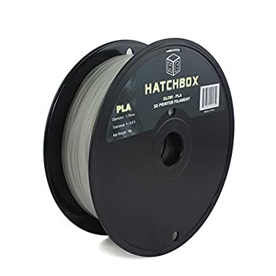 HATCHBOX 1.75mm Glow in the dark PLA 3D Printer Filament - 1kg Spool (2.2 lbs) - Dimensional Accuracy +/- 0.05mm