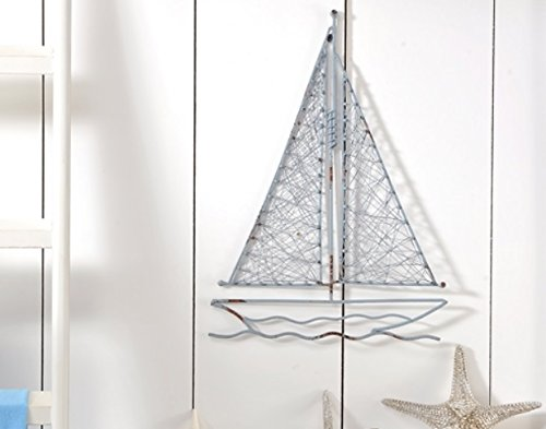 Nautical Sailboats : Metal and Wooden Wall Sculpture |