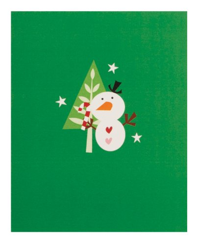 The Gift Wrap Company, 20-Count Small Holiday Cards, Snowman Bop front-506510