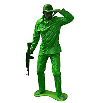 Toy Soldier Adult Costume Army Man Men Green Toy Story 2 3 Military Uniform