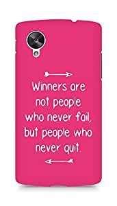 AMEZ but people who never quit Back Cover For LG Nexus 5