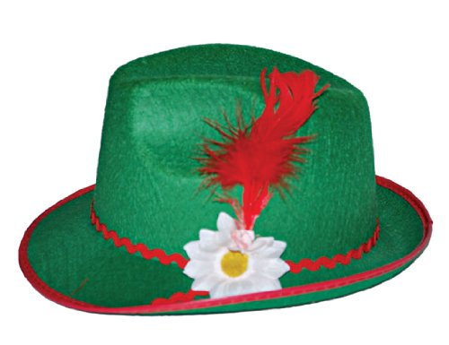 Funny Fashion Adult Bavarian Oktoberfest Halloween Costume Green Hat