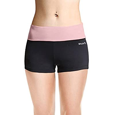 Baleaf Women's Workout Running Boy Cut Foldover Shorts Inner Pocket