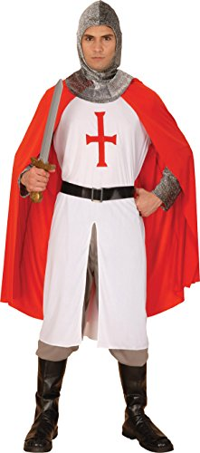 Medieval Knight St. George's Day Fancy Dress Party Crusader Complete Outfit