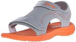 Teva Psyclone 6 Sport Sandal (Toddler/Little Kid), Grey/Orange, 10 M US Toddler