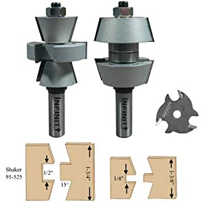 infinity tools 91 525 1 2 shank interior exterior door making rail stile router bit set