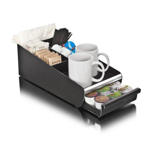 """Mind Reader Org01-Blk """"Vesta"""" Coffee Condiment And Accessories Holder, Black"""